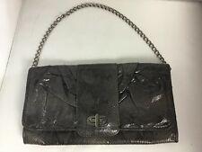 Monsoon Metallic Snake Print Cluch Shoulder Handbag Chain