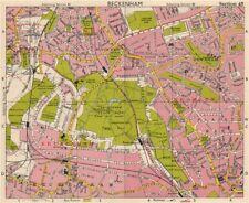 SE LONDON. Beckenham Downham Bellingham Bromley Bell Green. BACON 1963 old map