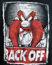 Looney Tunes Yosemite Sam BACK OFF Men's T-shirt XL Black 100% Cotton