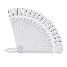 32Pcs Nail Art False Tips Sticks Polish Practice Display Fan Board Design Tool