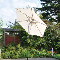 2M Umbrella Patio Outdoor Party Garden Sunshade Parasol Multi Colours Aluminium