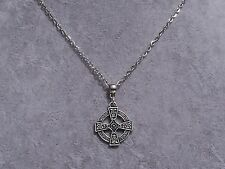 Plata Tibetana Cruz Celta Colgante Plata Cadena Collar. hecho a mano
