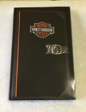 Harley Davidson Motorcycle Map Portfolio Planner in Box w Note Pad Notebook Pen