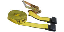 2''x30' Ratchet Tie Down Strap Flat hook Truck Flat Bed