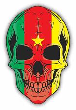 "Skull Flag Cameroon Car Bumper Sticker 4"" x 5"""