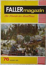 Faller  AMS --  Faller Magazin Nr. 76 von 1970 !