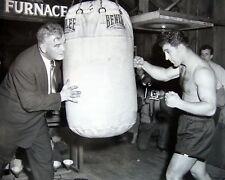 Rocky Marciano & James Braddock, 8x10 B&W photo