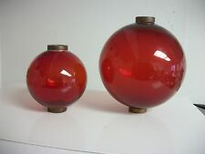 4.5'' and 6.5'' RED GLASS BALLs for weathervanes OR LIGHTENING RODS