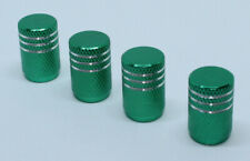 Pack of 4 Aluminium Valve Caps Dust Caps for Schrader Auto Valve Green