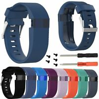 Large/Small Silicone WristWatch Band Strap for Fitbit Charge HR Activity Tracker