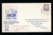 GREENLAND 1963 SCOTTISH EXPEDITION ILLUSTRATED COVER...SIGNED