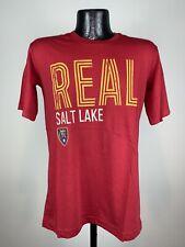 Men's Adidas Real Salt Lake FC Red Graphic Logo Short-Sleeve Tee NWT Small
