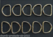 25mm D-Rings Welded Nickel Plated Bags Straps Dog Leads Crafts x10 x25 x50 x100