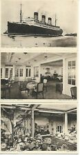 Collection of 6 x Vintage Postcards RMS Berengaria 1920's RPPC  - RARE