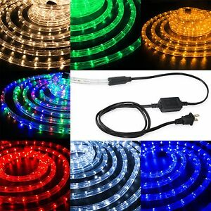 "LED Rope Light 1/2"" Thick Christmas Lighting Strips XMAS 10' 25' 50' 100' 150'FT"