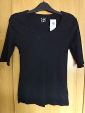 M & S cotone t-shirt NUOVA con etichetta taglia 10