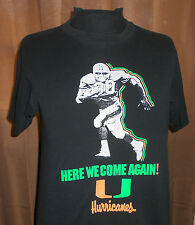 VTG 80s Miami Hurricanes Football~Catch Us if You Can~Soft/Thin T Shirt -M