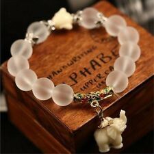 2017 Women Vintage Frosted Bead Bracelet Cute Elephant Pendant Korean Style Bang