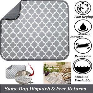 🔥Large Microfiber Dish Drying Mat pad Drying Kitchen Household Sink Drainer UK