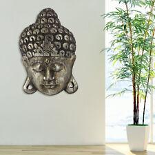 Mur décoratif Bouddha photo Albasia bois argent bain salon Feng Shui Asie Design