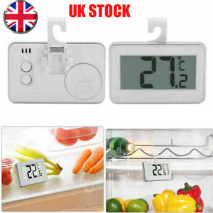 Waterproof LCD Digital Freezer Fridge Thermometer With Hanging Hook Magnet Home