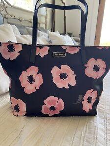 KATE SPADE HAYDEN FLOATING POPPIES TOP ZIP TOTE Handbag Purse New NWT $249