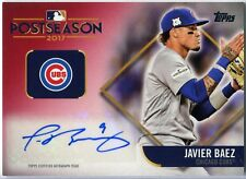 2018 Topps Javier Baez Postseason Performance Red Auto  19/25  SP  Cubs