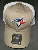 Toronto Blue Jays Nike Heritage 86 Adjustable Khaki Trucker Baseball Hat Cap