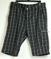 Adeline Billie Joe Steady Clothing Gray Plaid Shorts w/ D-Rings 36 Made in USA