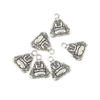 BUDDHA Tibetan Silver Bead charms Pendants fit bracelet 10pcs 20*17mm