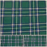 Polycotton Fabric NEW Crafts GREEN TARTAN MATERIAL CHECKED Metre Material