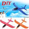 Foam Throwing Glider Airplane Inertia Aircraft Toy Hand Launch DIY Plane Model