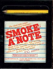 Smoke A'Note, Pencil and 100 Sheet Note Pad Rolling Paper. BRAND NEW