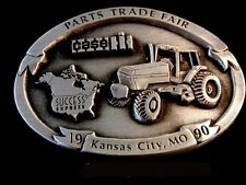 Vintage 1990 JI Case Parts Trade Fair Kansas City MO Pewter Belt Buckle
