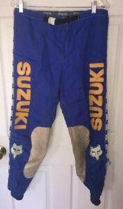 "Vintage FOX / Suzuki Racing Motocross Racing Pants, Size 34"" Moto-X fox"