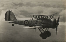 Postcard 1424 - Aircraft/Aviation Real Photo Gloster Gaunlet Royal Air Force