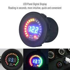 12V LED Panel Car Motorcycle Digital Voltage Socket Meter Gauge Voltmeter UK