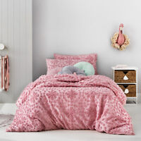Adairs Kids Florence Chenille Pink Single Quilt Cover Set BNIB RRP $169.99