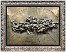Salvador Dali Platinum Edition Last Supper Wall Relief Sculpture Signed Artwork