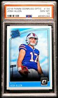 "2018 Josh Allen Rookie PSA 10 GEM MINT Donruss Optic #154 ""Flawless"" Bills"