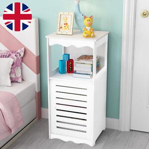 Wooden Bathroom Cabinet Shelf Storage Cupboard Toilet Unit Free Standing