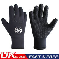 UK 3MM Adult Neoprene Wetsuit Gloves Diving Swim Scuba Surf Snorkeling Coldproof