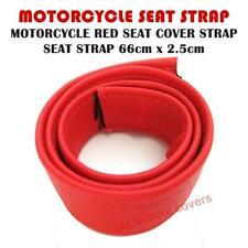 MOTORCYCLE RED SEAT COVER STRAP SEAT STRAP- 660mm LONG
