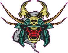 Samurai Skull Sticker, Ideal for Harley motorcycle helmet or tank stickers sk8