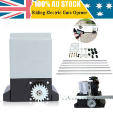 1200kg Electric Sliding Gate Opener Automatic Motor Remote Hardware Kit 6m Rail