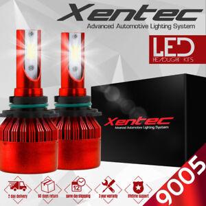 XENTEC 9005 LED High Beam Conversion Kit 388W CREE 6000K 6K White Light Bulbs