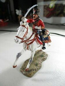 Officer, French Hussars, 1807 Del Prado Collection Horse c