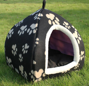 Small pet dog cat nest kennel multi-purpose folding yurt stain resistant p04