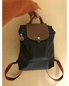100% BRAND NEW Auth Longchamp Le Pliage 1699 Nylon Zipper Backpack Bag BLACK