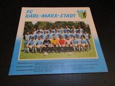 250516 FC Karl Marx Stadt DDR Oberliga Mannschaftsbild 1987